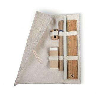 Set écriture publicitaire en jute, coton, bambou, papier - ouvert - ECOSET