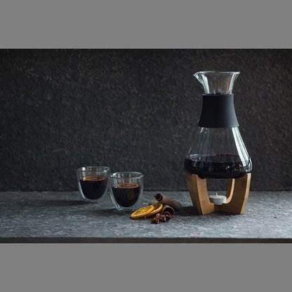 Set Pour Vin Chaud Sur Socle En Bambou Publicitaire Présentation GLU