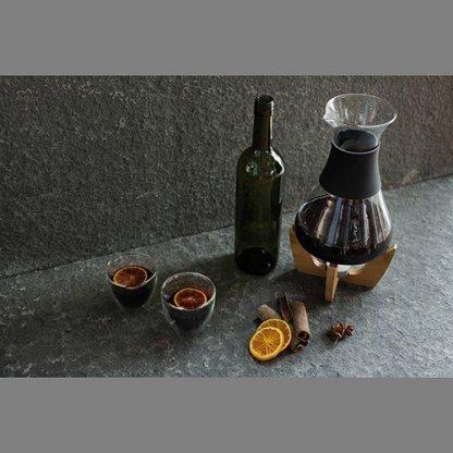 Set Pour Vin Chaud Sur Socle En Bambou Publicitaire Situation GLU