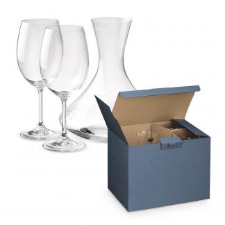 Set promotionnel carafe à décanter + 2 verres en verre - BORDEAUX