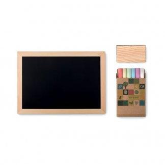 Set promotionnel tableau ardoise + craies + brosse - a plat - CHALK SET