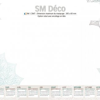 Sous-main avec calendrier en papier certifié - 2018 - SM DECO