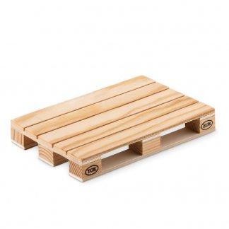 Sous-verre personnalisable en bois de pin - plat - PALY