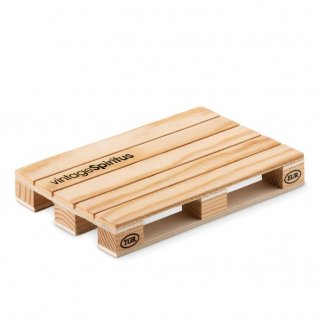 Sous-verre publicitaire en bois de pin - logo - PALY