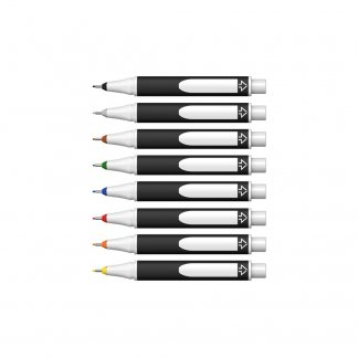 Stylo 2 en 1 modulable promotionnel en bioplastique - liner fin ouvert -LINK-IT