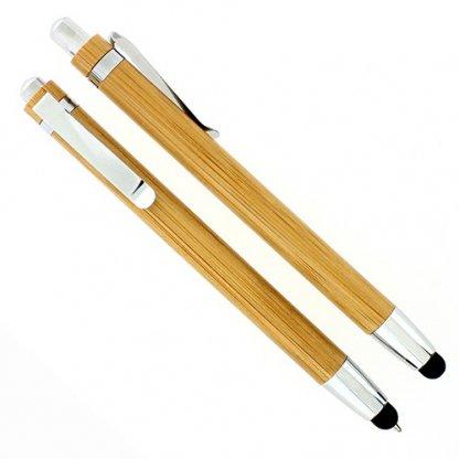 Stylet / Stylo 2 En 1 Publicitaire En Bambou WONDER