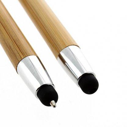Stylet / Stylo 2 En 1 Publicitaire En Bambou Embout WONDER