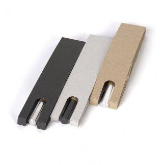 Stylo bille en bois publicitaire et aluminium - étui 3 couleurs - LE STYLO FRANCAIS