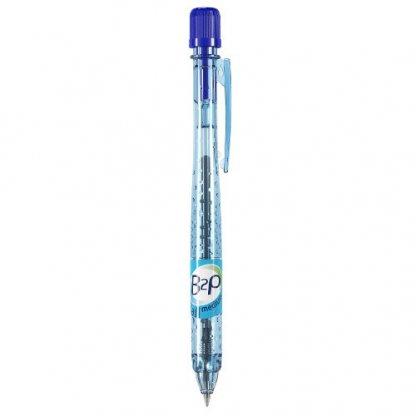 Stylo Bille Publicitaire En Bouteilles Plastiques Recyclées Bleu B2P BILLE