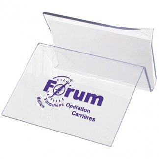 Support smartphone et cartes de visite publicitaire en plastique SAN - Avec marquage