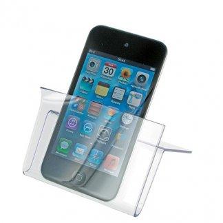 Support smartphone et cartes de visite publicitaire en plastique SAN - Avec smartphone