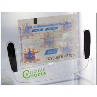 Support ticket stationnement publicitaire en polycarbonate - En situation
