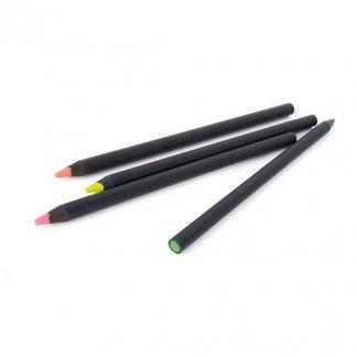 Surligneur fluo publicitaire en bois certifié - 17,6cm - FLUO BLACK
