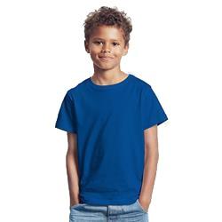 T-shirt enfant publicitaire en coton biologique - manches courtes - bleu - KIDS