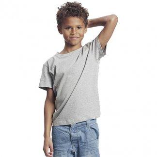 T-shirt enfant publicitaire en coton biologique - manches courtes - gris - KIDS