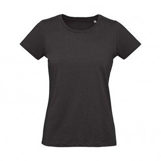 T-shirt femme personnalisable en coton biologique - 175g - Noir - INSPIRE PLUS T