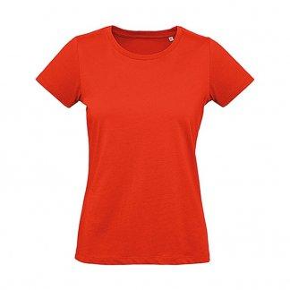 T-shirt femme personnalisable en coton biologique - 175g - Rouge - INSPIRE PLUS T