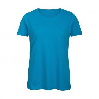 T-shirt femme publicitaire en coton biologique - 140g - Bleu atoll - INSPIRE T