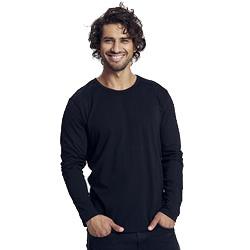 T-shirt homme à manches longues publicitaire en coton biologique - noir - LONGSLEEVE MEN