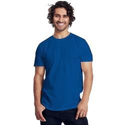 T-shirt publicitaire homme ajusté en coton biologique - manches courtes - bleu - FITTED MEN