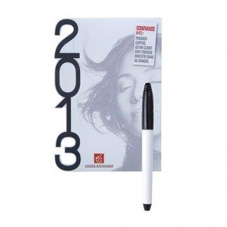Tableau blanc magnétique à votre forme en PVC publicitaire - banque - MEMO MAGNET