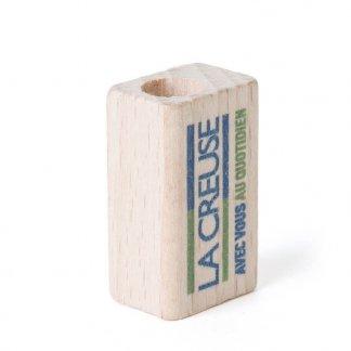 Taille-crayons promotionnel 1 trou en bois - TAILLO