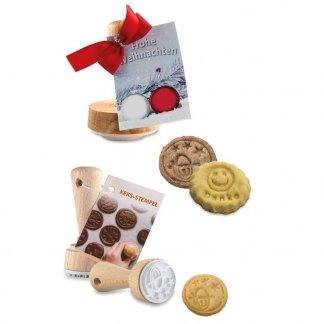 Tampon promotionnel pour biscuits en bois et caoutchouc