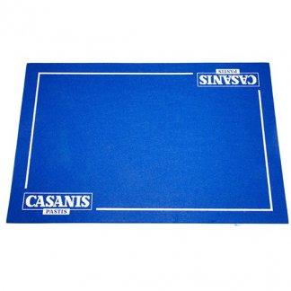 Tapis de cartes publicitaires - bleu marquage blanc - TAPCARTE