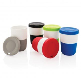 Tasse à café avec couvercle en PLA publicitaire - 380ml - COFFEE TO GO