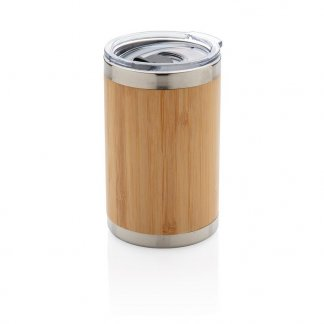 Tasse publicitaire bambou et inox - 270 ml - COFEE TO GO