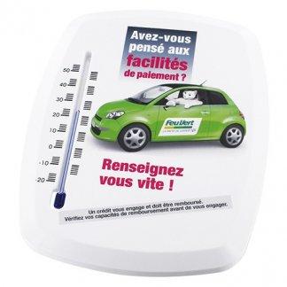 Thermomètre arrondi publicitaire en polystyrène - Marquage Quadri