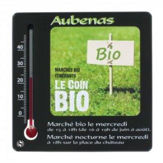 Thermomètre carré publicitaire en plastique recyclé polystyrène