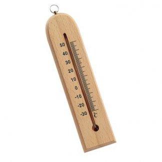 Thermomètre publicitaire en bois - TERUKO