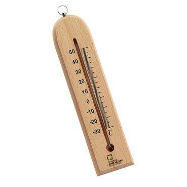 Thermomètre Publicitaire En Bois Marquage Quadri TERUKO