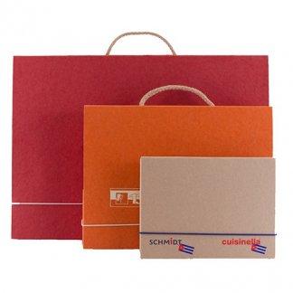 Valisette A4, A5, A3 en carton recyclé - poignée corde - VALENTINE