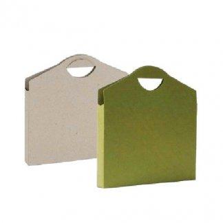 Valisette publicitaire en carton recyclé - fermeture velcro - IRINA