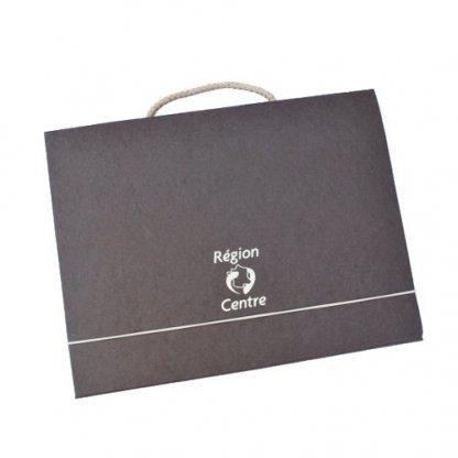 Valisette Publicitaire En Carton Recyclé Poignée Corde VALENTINE