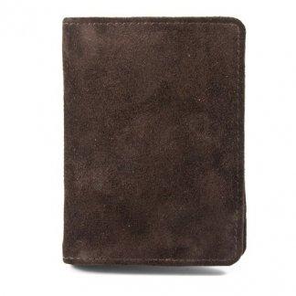 Porte-bloc / porte-cartes A6 publicitaire en cuir recyclé - marron - DECLAN