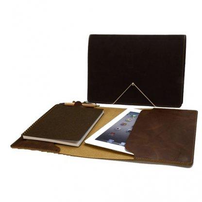 Conférencier / Porte Tablette A5 Publicitaire En Cuir Recyclé ETUI TAB