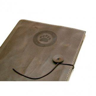 Conférencier / porte-tablette A5 publicitaire en cuir recyclé - thermogravure - ETUI TAB