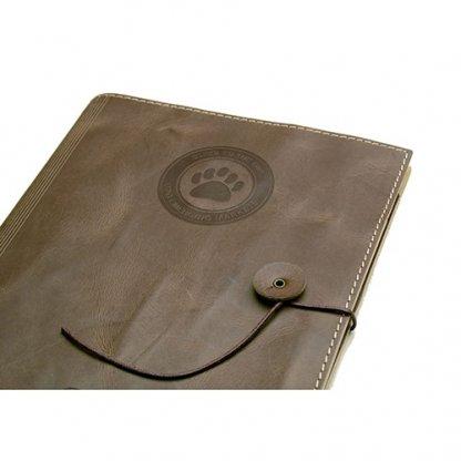Conférencier / Porte Tablette A5 Publicitaire En Cuir Recyclé Thermogravure ETUI TAB