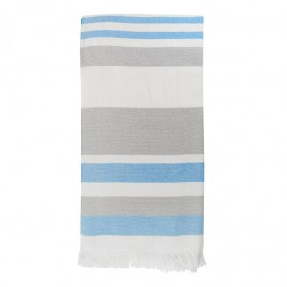 Fouta/serviette personnalisée en coton recyclé et bouteilles plastiques recyclées - couleurs - ELMAR
