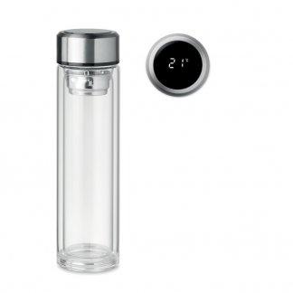 Bouteille Personnalisable Avec Infuseur à Thé Et Thermomètre En Verre 390ml POLE GLASS
