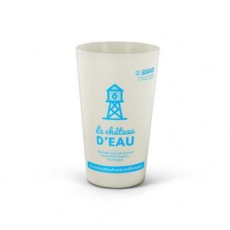 Gobelet Réutilisable En Bioplastique 300ml BIOCOMPOSITE GLASS Avec Marquage