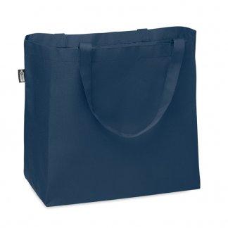 Grand Sac Shopping Promotionnel En Bouteilles Plastiques Recyclées 58x36x18cm FAMA Bleu
