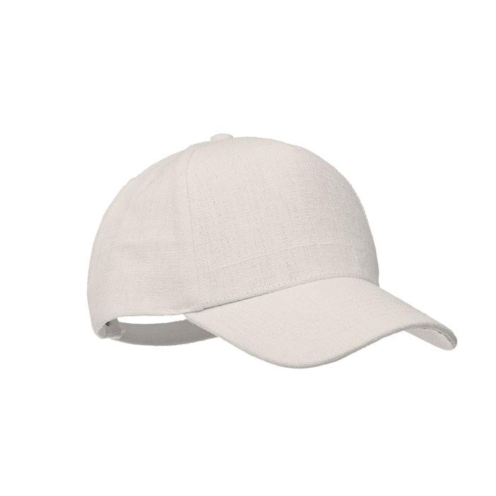 Cadeau pub casquette blanche chanvre