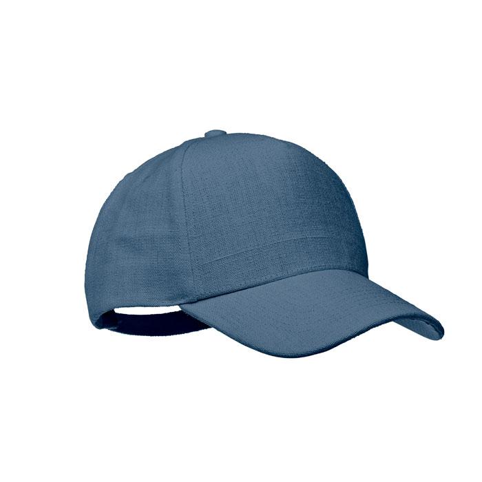 cadeau pub - casquette bleue en chanvre