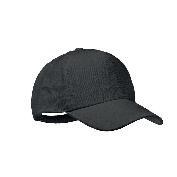 Cadeau publicitaire - casquette noire en chanvre