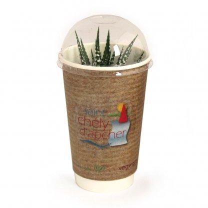 Plante Dans Gobelet Engrais Et Dôme Biodégradables SMOOTHIE PLANTE Avec Sticker