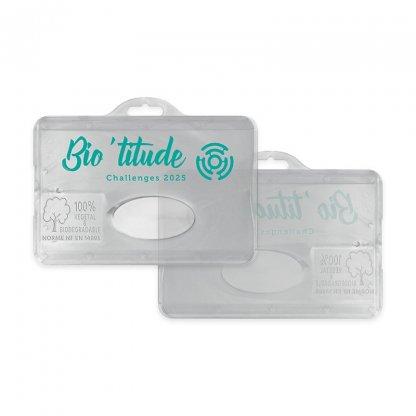 Porte Badge En Bioplastique BADGE HOLDER Marquage 1 Couleur